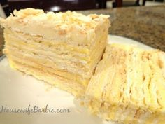 An American Housewife: Lithuanian Torte (or a Napoleon Torte) layers of flaky pastry and creamy vanilla filling! Lithuanian Recipes, Ukrainian Recipes, Ukrainian Food, Russian Recipes, Napoleon Torte, Lithuania Food, Cake Recipes, Dessert Recipes, Cookies