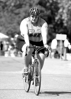 I'm fat and I'm an athlete. You shouldn't be surprised by Louise Green Divas, Cycling For Beginners, Im Fat, Positive Body Image, Fat Positive, Plus Size Workout, Six Pack Abs, Body Love, Triathlon