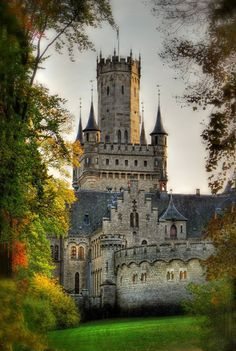 Marienburg Castle is a Gothic revival castle in Lower Saxony, Germany. (I think if I had lived in Germany, I would have had a better chance at a castle! Beautiful Castles, Beautiful Buildings, Beautiful Places, Amazing Places, Chateau Medieval, Medieval Castle, Gothic Castle, Fairytale Castle, Photo Chateau