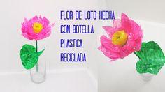 FLOR DE LOTO HECHA CON BOTELLA DE PLASTICO RECICLADA / PRACTIKO