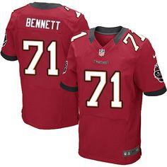 Men Nike Tampa Bay Buccaneers #71 Michael Bennett Elite Red Team Color NFL Jersey Sale jersey nfl jual