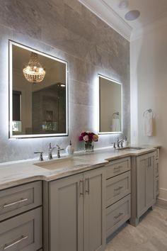 Master Bath Lighted Mirror Google Search Bathroom Design Bathrooms Remodel Bathroom Construction