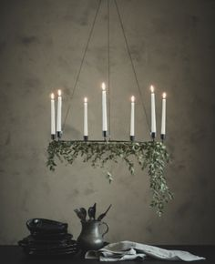 IKEA - VÄRMER, Chandelier for 6 candles, black, The style is both simple and discreet, and it suits most settings. 6 candles are needed for the chandelier – may be completed with JUBLA candles or LJUSANDE LED candles.