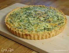 Весенний зеленый пирог. Ингредиенты: мука, сливочное масло, яичные желтки