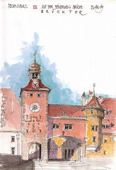 Regensburg, Brücktor, D | Flickr - Photo Sharing!