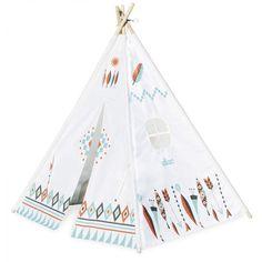 Großes Cheyenne Tipi von Vilac in weiß-bedruckt