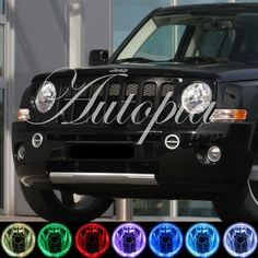 2007-2010 Jeep Patriot Xenon Fog Lamps Lights 07 08 09 Halo Angel Eyes