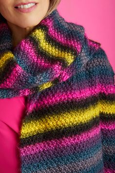 Textured Super Scarf (Knit) - Patterns - Lion Brand Yarn