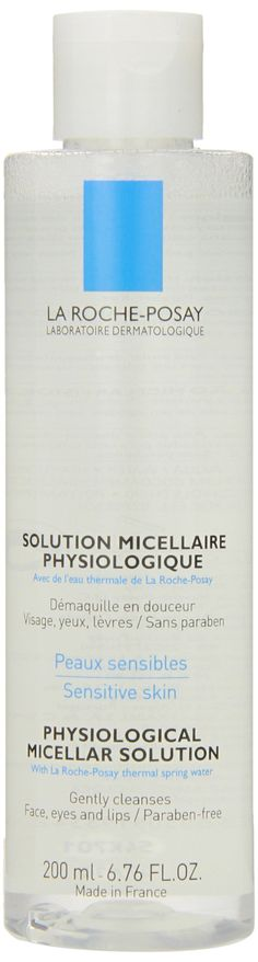 La Roche-posay Physiological Micellar Cleansing Solution for Sensitive Skin, 6.76-Ounce