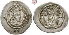 Ancient Coins - SASSANIAN KINGDOM, Hormazd IV., 579-590 AD, Drachm 579-590