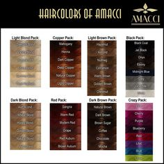 Amacci - Hair Color Chart