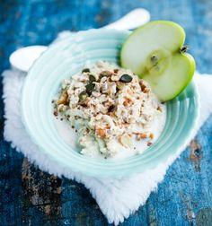 Raaka omenapuuro raakapuuro tuorepuuro kaura rahka korvaa manteli cashew lisää marjat