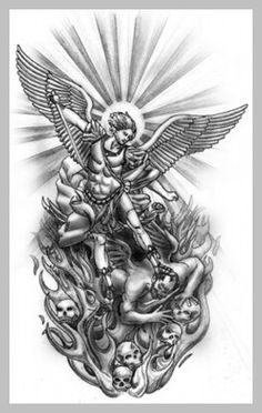 Tattoo Sleeve Designs - No More Need For Real Sleeves -- You can get additional details at the image link. Red Ink Tattoos, Dope Tattoos, Badass Tattoos, Small Tattoos, Tattoos For Guys, Japanese Tattoo Designs, Japanese Sleeve Tattoos, St Micheal Tattoo, Saint Michael Tattoo