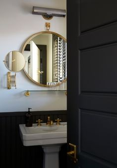 Black and brass bathroom
