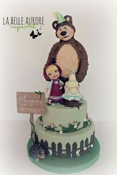 Cute Masha and the Bear cake