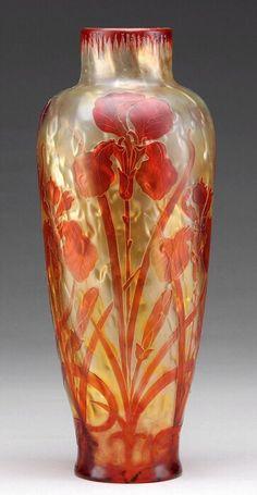 Burgun Schverer & Cie. Glass Vase