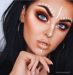 Going To Coachella Festival Try This Beautiful 55 Makeup Ideas 33