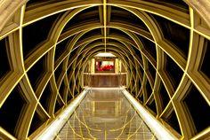 Ping An Hotel designed by Hirsch Bedner Associates (HBA). Lighting design by Illuminate. Hotel Corridor, Club Design, Hotel Interiors, Light Project, Lobbies, Hotel Lobby, Retail Shop, Shanghai, Lighting Design