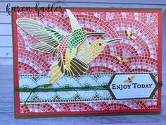 The gorgeous Mosaic Mood Speciality Designer Series Paper. Bees, Stamping, Mosaic, Card Making, Paper Crafts, Mood, Learning, How To Make, Cards