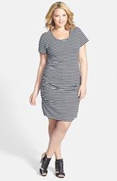 Caslon ®  Shirred Side Jersey Dress (Plus Size)