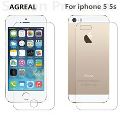 Screen Protectors 2pcs/lot Front   Back Premium Tempered Glass for iPhone 5 5s 5se Anti-scratch 9H 0.26mm 2.5D Screen Protector Film for iPhone 5S ** This is an AliExpress affiliate pin.  Clicking on the image will lead you to find similar product on AliExpress website