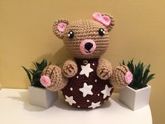 orsetto pan di stelle Amigurumi tutorial - schema - YouTube