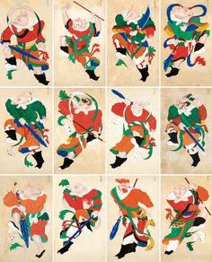 Irezumi, Chinese Painting, Chinese New Year, Asian Art, Folk, Auction, China, Japanese, Illustrations