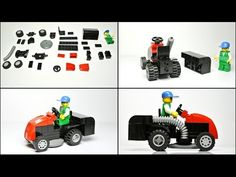 How to Build the Lawn Mower Tractor (Lego Toy) Lego City Sets, Lego Sets, Cool Lego, Cool Toys, Lawn Mower Tractor, Lego Truck, Lego Military, Lego Design, Lego Building