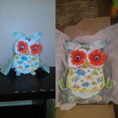 Owl diaper cake: Hooting good time!!!!