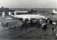 Air Ceylon Lockheed Super Constellation at Amsterdam Schiphol Airport