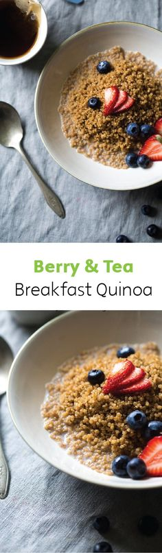 Use healthy quinoa in your next breakfast recipe and top it with fresh blueberries, strawberries, blackberries and raspberries for a delicious and sweet meal you'll love! Click here for the full recipe.