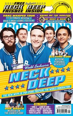 Hello there, Neck Deep *throws frisbee* Bullet For My Valentine, Rock Sound, Neck Deep, Warped Tour, Live Band, World Domination, Festival Posters, Pop Punk, Green Day