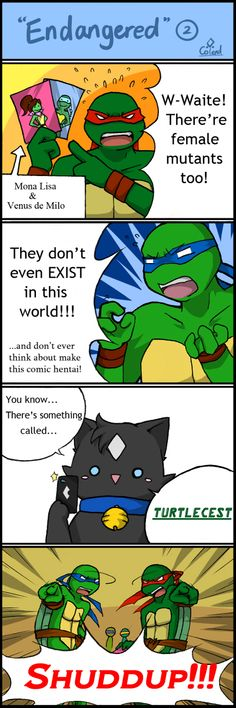 TMNT comic strip 6 by Colend YES - SHUDDUP with the turtlecest!