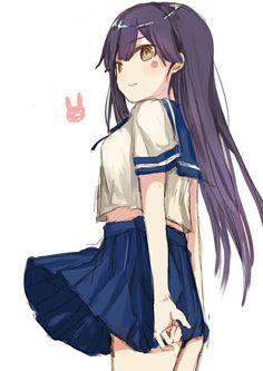 Cute Anime School Girl