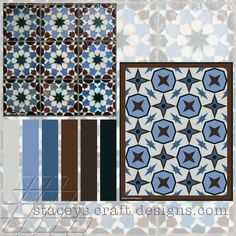 Colour Palette Lisboa Tiles by Stacey's Craft Designs
