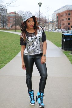 CASUAL IN SEQUINS & LEATHER! TGIF!!