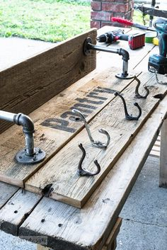 Make an Easy Pipe and Reclaimed Wood Shelf in Minutes