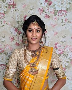 Beautiful South Indian Wedding Wear Idea :- AwesomeLifestyleFashion Different Culture have their own look and style and Kanjivaram and. Indian Wedding Wear, Indian Bridal Fashion, Saree Wedding, Bride Indian, Tamil Wedding, Kerala Bride, Wedding Bride, Wedding Gowns, Wedding Ideas