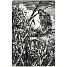 Howard Phipps. The Silvered Afternoon. (wood engraving)