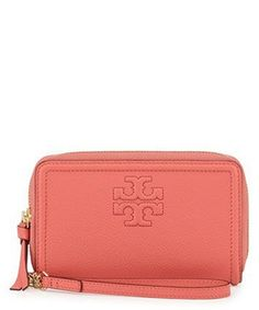 Thea Zip-Around Smartphone Wristlet - Spiced Coral
