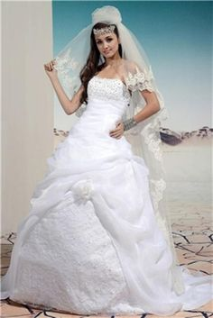 cute wedding dresses | Fashionable Strapless Wedding Gowns