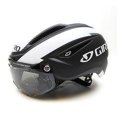 New GIRO Air Attack Shield Cycling Road Bike Helmet Lens Matte Black White Large