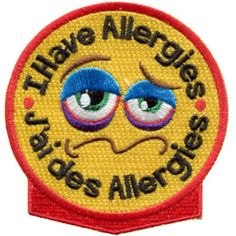 This patch company sells Allergy patches: Peanut, wheat, shell fish, dairy, pet dander, and a bunch more. I love this idea! If my daughter had an allergy I'd sew this on the front of her GS vest to prevent accidents.
