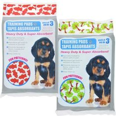 Absorbent Pet Training Pads with Printed Patterns, 3-ct. Pack