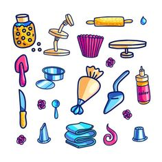 Cake Decorating Tools, Free Vector Art, Vector Design, Beautiful Hands, Blackberry, Design Elements, How To Draw Hands, Doodles, Clip Art