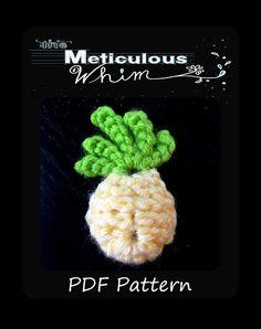 Pineapple Crochet Pattern  Crochet Pineapple  by MetWhimDigital