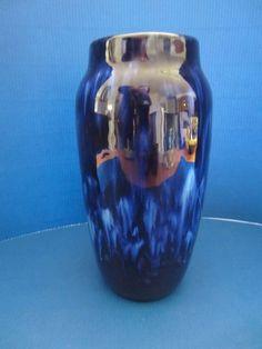 Scheurich WGP Keramik Vase 242-22 tolle blaue Laufglasur Vintage 70
