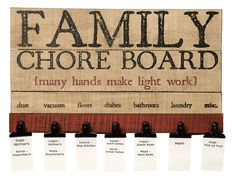 Work For Hire Board  Free Printable Chores Parenting Kids