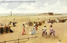 """New Brighton, Wallasey.""""over the water"""" Liverpool History, Liverpool Home, Colorized Photos, Local History, Family History, New Brighton, Vintage Travel Posters, Vintage Postcards, Kingdom Of Great Britain"""
