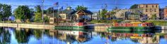 Erie Canal in Brockport NY